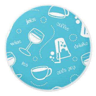 Various drinks ceramic knob
