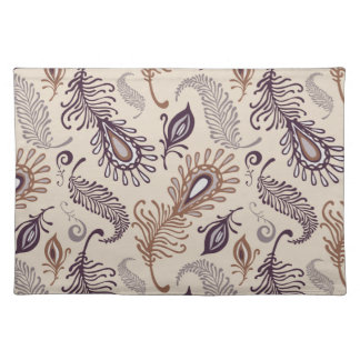 Various Feather Pattern Placemat