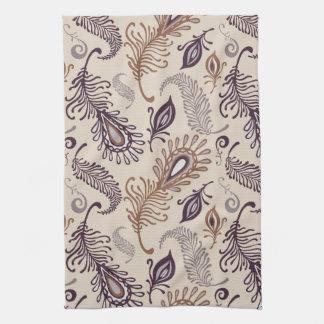 Various Feather Pattern Tea Towel