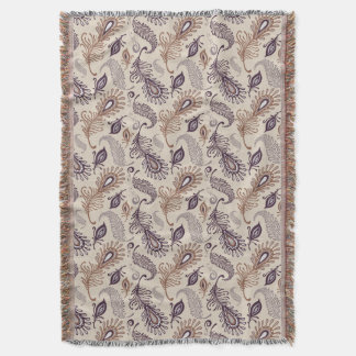 Various Feather Pattern Throw Blanket