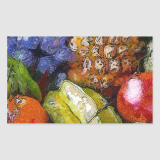 VARIOUS FRUITS RECTANGULAR STICKER