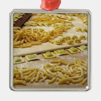Various mix of fresh italian homemade pasta christmas ornament