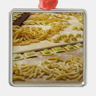 Various mix of fresh italian homemade pasta christmas ornament