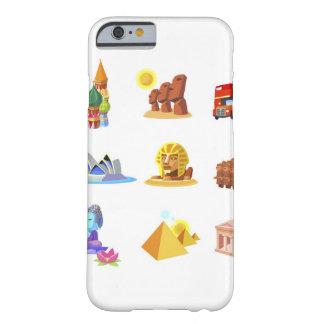 Various monuments of world barely there iPhone 6 case