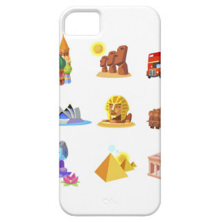 Various monuments of world case for the iPhone 5