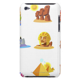 Various monuments of world iPod Case-Mate cases