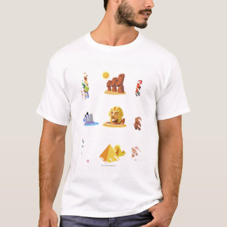 Various monuments of world T-Shirt