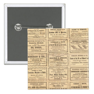 Various oil advertisements 15 cm square badge