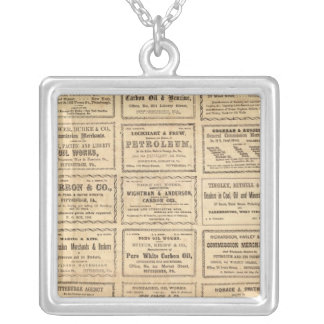 Various oil advertisements silver plated necklace