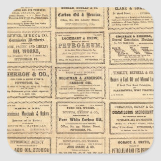 Various oil advertisements square sticker