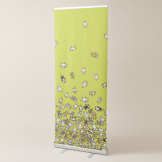 Various pattern Lots of cats Yellow green Retractable Banner