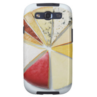 Various pieces of cheese resembling a pie chat samsung galaxy s3 cases