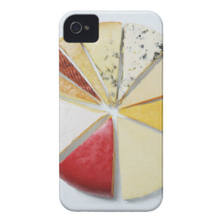 Various pieces of cheese resembling a pie chat iPhone 4 Case-Mate cases