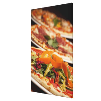 Various Pizza and Toppings Canvas Print