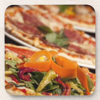Various Pizza and Toppings Coaster