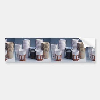 Various plastic drinking cups Photo Bumper Sticker