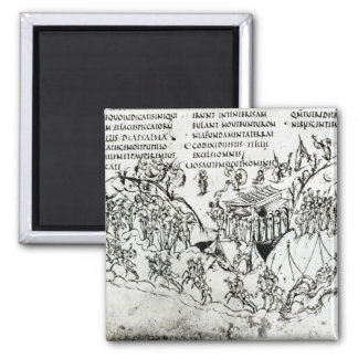 Various scenes illustrating a psalm 2 magnet