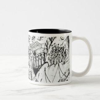 Various scenes illustrating a psalm 2 Two-Tone mug