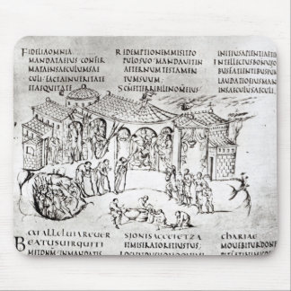 Various scenes illustrating a psalm mouse pad