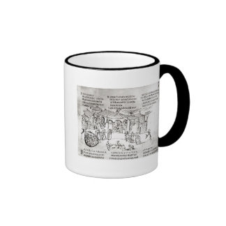 Various scenes illustrating a psalm ringer coffee mug