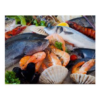 Various Seafood Postcard