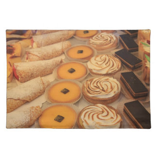 various sorts of pastry placemat