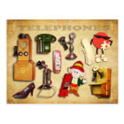 Various Telephones - Vintage and Modern Postcard