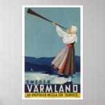 Varmland Sweden - Vintage Travel Poster