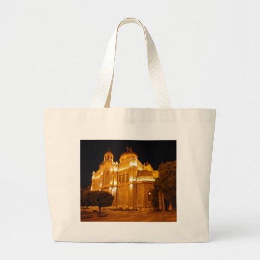 Varna Cathedral At Night Bags