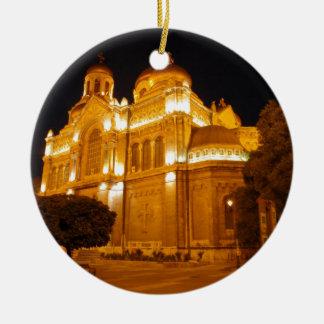 Varna Cathedral At Night Christmas Ornament