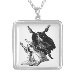 Varney the Vampyre Square Necklace