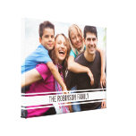 Varsity Bar Family Photo on Canvas Wall Art Stretched Canvas Prints