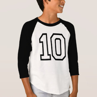 VARSITY Black #10 BIRTHDAY Tee