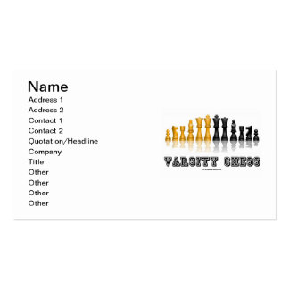 Varsity Chess (Reflective Chess Set) Pack Of Standard Business Cards