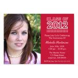 Varsity Class Of 2012 Graduation (Burgandy Red) 13 Cm X 18 Cm Invitation Card