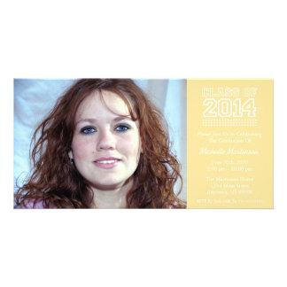 Varsity Class Of 2014 Graduation (Gold) Photo Card Template