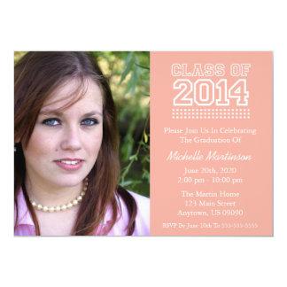 Varsity Class Of 2014 Graduation (Peach) Card