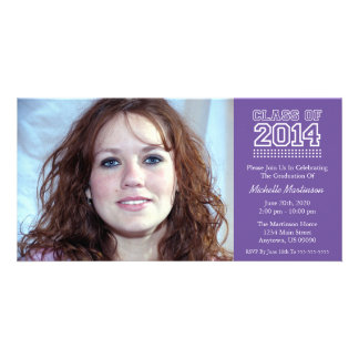 Varsity Class Of 2014 Graduation (Plum Purple) Photo Greeting Card
