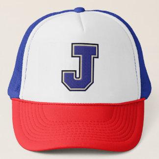 Varsity Letter J Monogram Trucker Hat