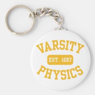 Varsity Physics Basic Round Button Key Ring