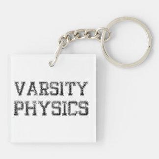 Varsity Physics Double-Sided Square Acrylic Key Ring