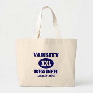 Varsity Reader XXL Library Tote Bag