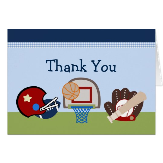 Varsity Sports Baby Thank You Cards