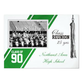 Varsity Stripe with Photo Class Reunion 13 Cm X 18 Cm Invitation Card