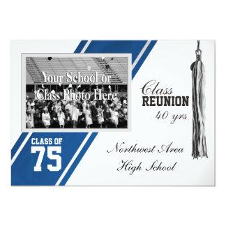Varsity Stripe with Photo Class Reunion Card
