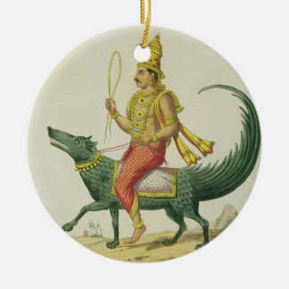 Varuna, God of the Oceans, engraved by Charles Eti Christmas Ornament