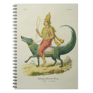 Varuna, God of the Oceans, engraved by Charles Eti Notebooks