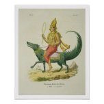 Varuna, God of the Oceans, engraved by Charles Eti Poster
