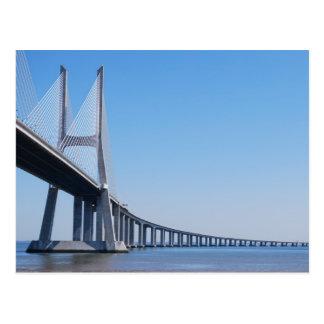 Vasco da Gama Bridge over River Tagus in Lisbon Postcards