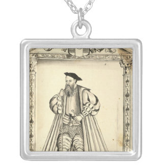 Vasco da Gama  from 'Lendas da India' Silver Plated Necklace
